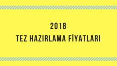 2018 Tez hazırlama fiyatları kaç lira: Bitirme tezi, Yüksek Lisans tez ücretleri